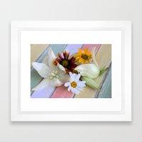 Flowers 'n Chalk Framed Art Print
