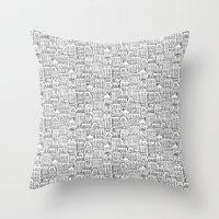urban winter Throw Pillow