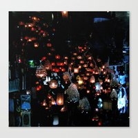 Lanterns In The Souk, Is… Canvas Print