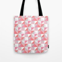 Peach Geometric; Tote Bag