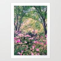 In the garden! Art Print