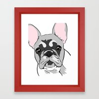 Jersey the French Bulldog Framed Art Print