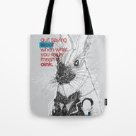 Tote Bag featuring Politics by YONIL