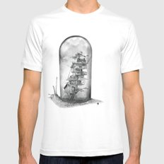 Snail - Evolving Home Mens Fitted Tee SMALL White