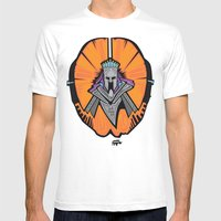 the Orange King Mens Fitted Tee White SMALL