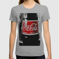 Coca-Cola Nostalgia Womens Fitted Tee Athletic Grey SMALL