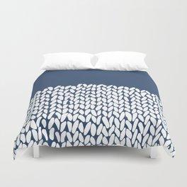 Duvet Cover - Half Knit Navy - Project M