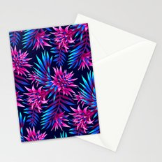 Aechmea Fasciata - Dark Blue/Pink Stationery Cards