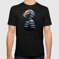COOL CAT Mens Fitted Tee Tri-Black SMALL