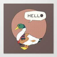 Mr Duck Canvas Print