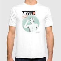 Missed call! Mens Fitted Tee White SMALL