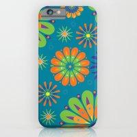 Psycho Flower Blue iPhone 6 Slim Case