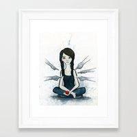 Boundaries Framed Art Print