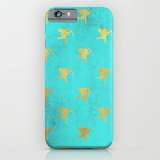 Gold Angels On Aqua Back… iPhone 6 Slim Case