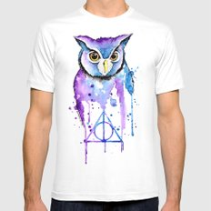 Hedwig White Mens Fitted Tee SMALL