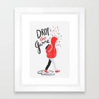 Drop The Game Framed Art Print