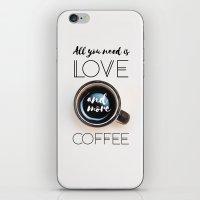 Love & Coffee iPhone & iPod Skin