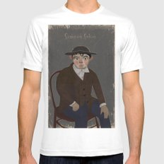 Portrait SMALL White Mens Fitted Tee
