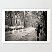 New York City - Rain Art Print