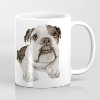 A Bulldog Puppy :: Brindle  Mug