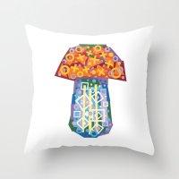 Mushroom (Champignon) Throw Pillow