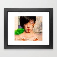 Tribal beauty Framed Art Print