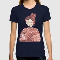 The Botanist Womens Fitted Tee Navy SMALL