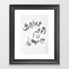 Collapsed in Love Framed Art Print
