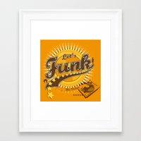 Let's Funk Framed Art Print