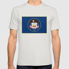 Utah State Flag - Authen… Mens Fitted Tee Silver SMALL