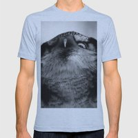 Owl series no.5 Mens Fitted Tee Athletic Blue SMALL