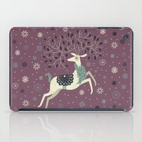 Prancing Reindeer iPad Case