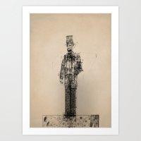 American Blueprint Art Print