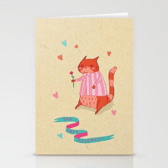 The Cat's Pyjamas Stationery Card