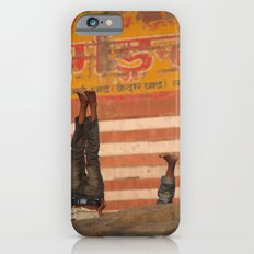 Doing Yoga on the Ghats iPhone 6 Slim Case