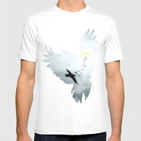 Crows Mens Fitted Tee White SMALL