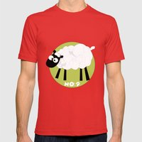 Sheep Number 9.... Mens Fitted Tee Red SMALL