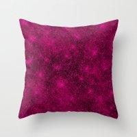 Sequin series pink Throw Pillow