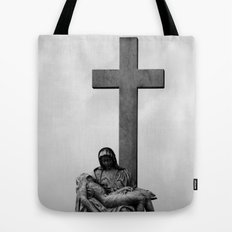 Virginal sky Tote Bag
