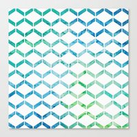 Marine Geometric Canvas Print