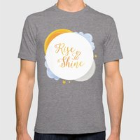 Rise and Shine Mens Fitted Tee Tri-Grey SMALL