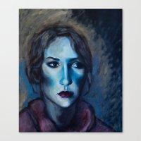 Blue Portrait Canvas Print