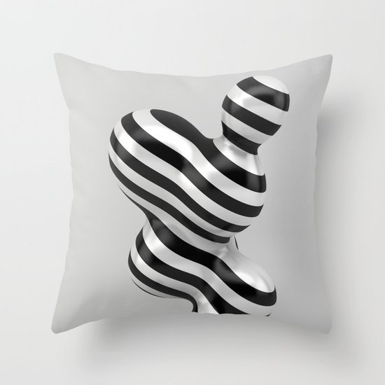 Primitive Stripes Throw Pillow