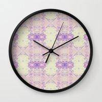 Fuzzy Kaleidoscope Wall Clock