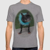 Diva Dog Mens Fitted Tee Athletic Grey SMALL