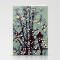 Winter Lights Stationery Cards