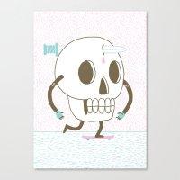 As I Skate Through The V… Canvas Print