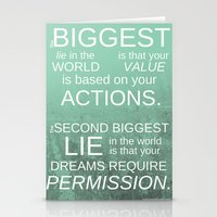The Biggest Lie Stationery Cards