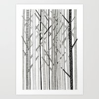 Pattern Trees Art Print
