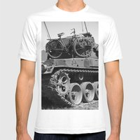 Tank Bike Mens Fitted Tee White SMALL